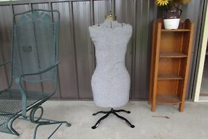 Old Vintage Dress Form Mannequin Adjustable Sewing Seamstress Antique Woman