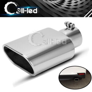 Bolt On Exhaust Tip 2 5 Inlet 5 5x3 Outlet 9 Long Angle Cut Stainless Steel