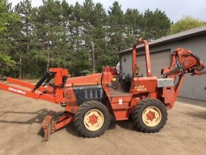 1997 Ditch Witch 7020jd Vibratory Plow With Custom Built Reel Carrier