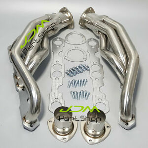 Turbo Exhaust Manifold Header Steel For Chevy Truck Suv Headers 88 97 5 0l 5 7l