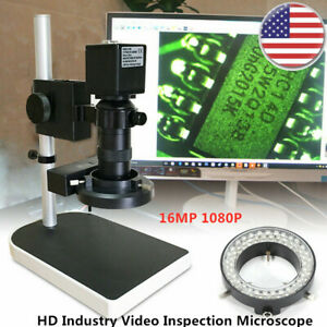16mp 1080p Hdmi Digital Industry Video Inspection Microscope W camera Stand Set