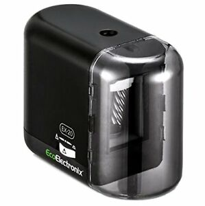 Electric Pencil Sharpener Black Battery Ac Powered For No 2 Colored Pencils
