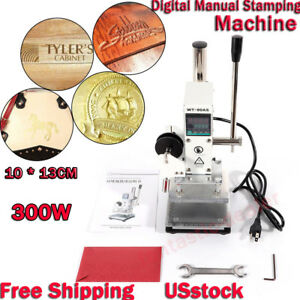 Digital Manual Stamping Machine 10 13cm Plastic Leather Bronzing Hot Foil Ups