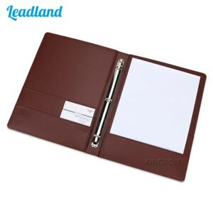 6 Colors 3 Ring Binders A4 Pu Leather Files Folder Travel Portfolios Fashion Sty