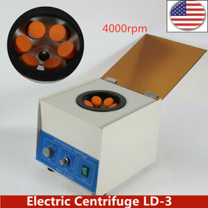 6 50ml Electric Benchtop Centrifuge Lab Medical Practice 4000rpm Widely Used New