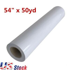 Usa 54 X 50yd Roll Glossy Cold Laminating Film Paper Adhesive Glue