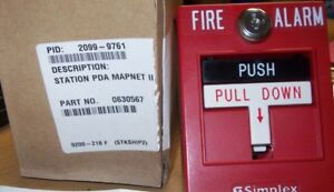 New Simplex 2099 9761 Addressable Fire Pull Alarm Red