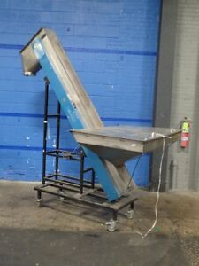 Laros 5 545 8 98 Portable Parts Elevator Conveyor 36 w X 54 l Hopper 8 w 07