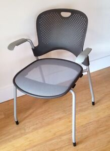 Herman Miller Caper Chair With Arms Flexnet Seat Gently Pre owned Office Side