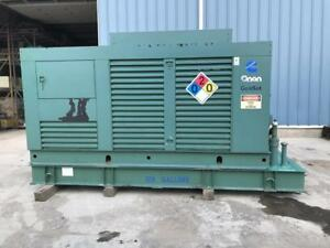 _200 Kw Cummins Onan Generator Set 128 Gallon Base Fuel Tank 12 Lead Reconn