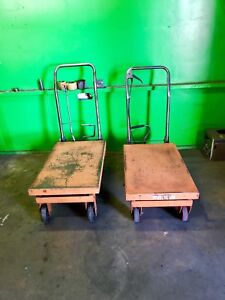 2 Hydraulic Scissor Lift Table Work Cart Garage Shop