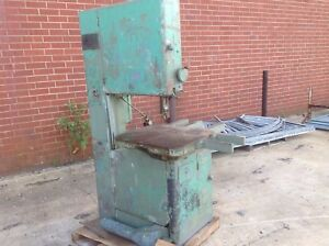 Grob 24 Vertical Bandsaw Has Been Used For Cutting Wood