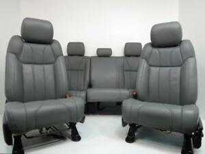 14 18 Toyota Tundra Front Rear Seat Grey Leather Power Heated Crew Cab