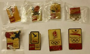 1992 Coca Cola Olympic Pin Set- 8 pins BARCELONA ALBERTVILLE BOXING DIVING