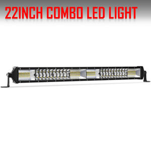 Dual Row 1088w 24inch Led Light Bar Combo For Offroad 4wd Jeep Ford Atv Boat 22