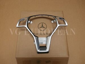 Mercedes Benz Genuine W204 C Class Silver Steering Wheel Trim Cover