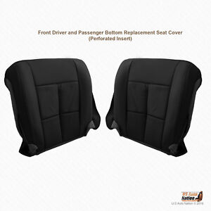 2007 To 2014 Lincoln Navigator Driver Passenger Bottom Leather Seat Cover Blk