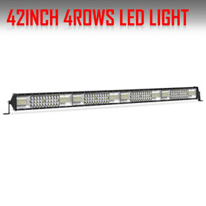 40 Inch 580w Led Light Bar Quad Row Offroad Suv Jeep Atv Track Boat Pickup Truck
