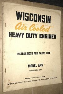 1940s Rare Wisconsin Engine Booklets Set Of Eleven Farm Tractor Motor
