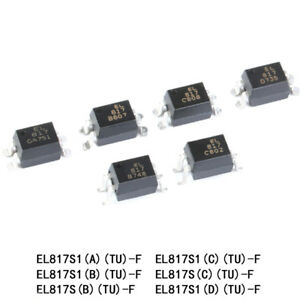 Smt smd Optocoupler El817s1 a b c d tu f Sop 4 Compatible Pc817 Authentic