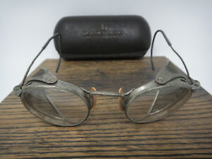 Vtg Ao Safety Goggles American Optical Fulvue Glasses Side Shields