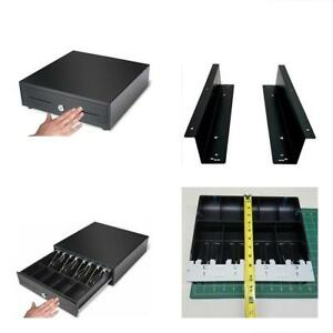 Cash Register Drawer Box With Money Tray Coin Push Button Heavy Duty Best