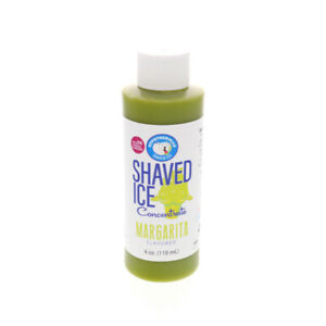 Margarita Snow Cone And Hawaiian Shaved Ice Unsweetened Flavor Concentrate 4 Oz