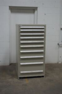 Used Vidmar 10 Drawer Cabinet Industrial Tool Parts Storage 641 Snap on