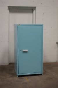 Used Vidmar 2 Shelf Door Cabinet Industrial Tool Parts Storage 1506