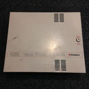 Simplex 4009 9002 Class A Power Nac Extender Fire Alarm Panel Conventional 24vdc