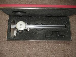 Fowler Nsk White Face Dial Caliper 0 6inch Excellent