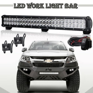 20 Led Light Bar Insert Bumper Fit 2007 2013 Chevy Silverado 1500 2500 3500hd