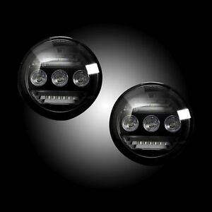 Recon Smoke Led Fog Lights For 15 18 Silverado Sierra 1500 2500 3500