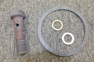 New Mopar Small Block Oil Filter Adaptor Bolt And Gasket Kit