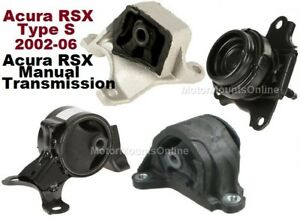 9r1508m 4pc Motor Mounts Fit Manual 2002 2006 Acura Rsx Type S Engine Mou