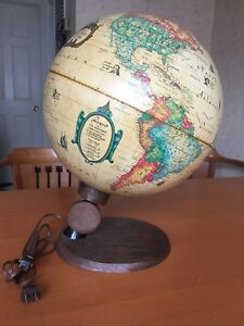 World Antique Spot Globe By Reader S Digest Lightup Globe