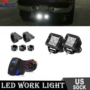 Tow Hitch Mounting Bracket Dual 16w Led Backup Fog Light Off Road Suv Ford