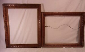 Pair Of Vintage Carved Wood Frames 19 1 2 X 23 1 2 Holds 16x20 Molding 2