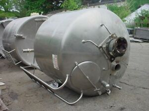 750 Gallon Sanitary Stainless Steel Tank Food Grade With Mixer Reduced Price