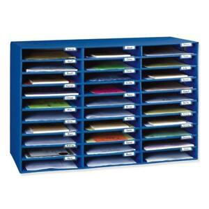 30 Slot Mailbox Storage Organizer For Classroom Individual Name Tags New Blue