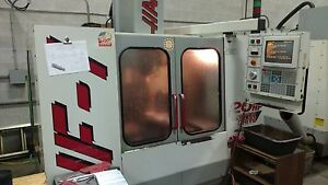 Used Haas Vf 1 Vertical Mill Machining Center 4th 20x16 Vmc Gear Box P cool 1999