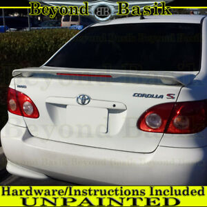 For 2003 04 05 06 07 2008 Toyota Corolla Factory Style Spoiler W Led Unpainted