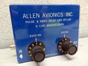 Allen Avionics Vp1100 Pulse Video Delay Line 0 1100 Nanoseconds