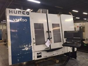 Used Hurco Vmx 50 Cnc Vertical Mill Machining Center Vmc 10 000 Rpm Ct40 2000