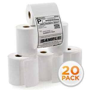 20 Rolls 250 Each 4x6 Direct Thermal Labels For Zebra 2844 Eltron Zp450