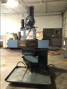 Used Lagunamatic 250s 3 axis Cnc Knee Mill Machine 1000 Dynapath Delta Control