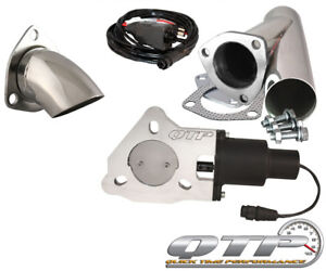Qtp Qtec25cpsk1 Quick Time Performance 2 5 Electric Exhaust Cutout Y Pipe Kit