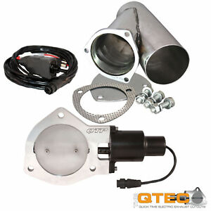 Qtp Qtec25cp Quick Time Performance 2 5 Electric Exhaust Cutout Y Pipe Kit New