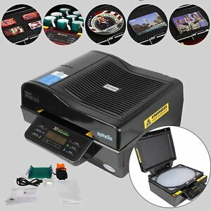 Heat Press Printer Transfer Sublimation 3d Vacuum T shirt Porcelain Plates Glass