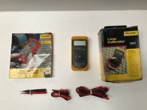 Fluke 707 Current Loop Calibrator With Quick Click Knob With Accessories